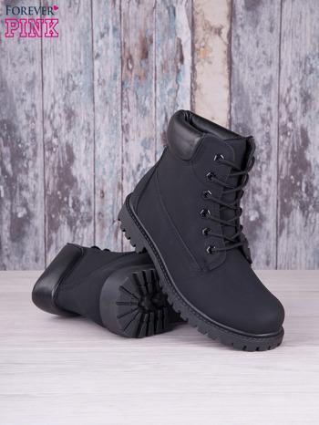 Czarne jednolite buty trekkingowe Westie damskie traperki ocieplane                                  zdj.                                  4