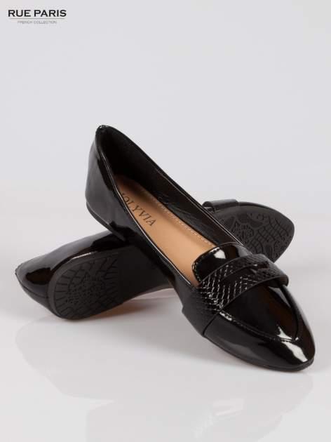 Czarne lakierowane mokasyny penny loafers Harper                                  zdj.                                  4