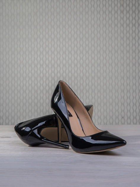 Czarne lakierowane szpilki Jennifer w szpic                                  zdj.                                  4