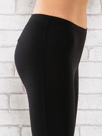 Czarne legginsy sportowe termalne z patką z dżetów                                  zdj.                                  5
