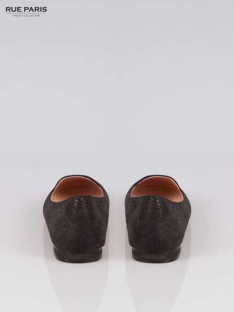 Czarne lordsy faux leather Mess Around z wężowej skórki                                  zdj.                                  3