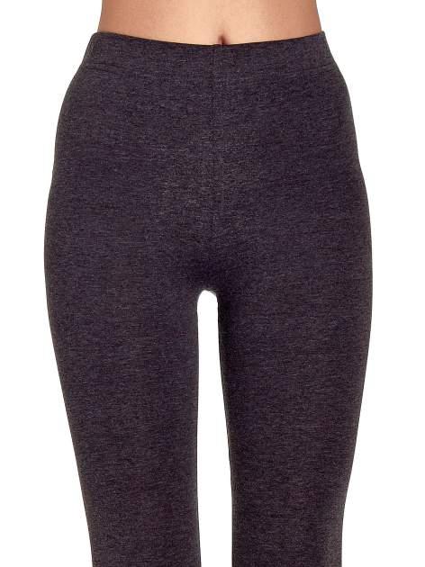 Czarne melanżowe legginsy damskie basic                                  zdj.                                  5