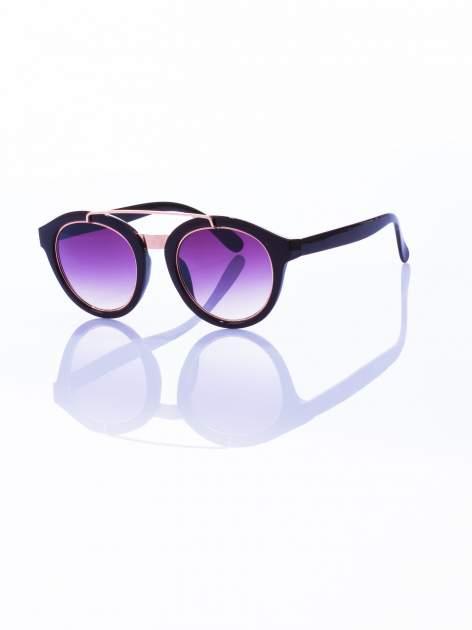 Czarne okulary przeciwsłoneczne unisex w stylu vintage
