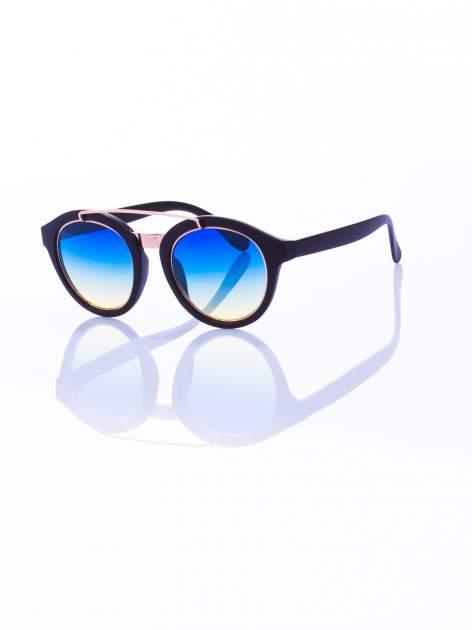 Czarne okulary przeciwsłoneczne w stylu vintage retro                                  zdj.                                  2