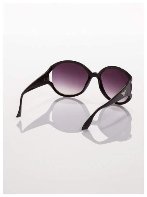 Czarne owalne okulary przeciwsłoneczne                                   zdj.                                  3