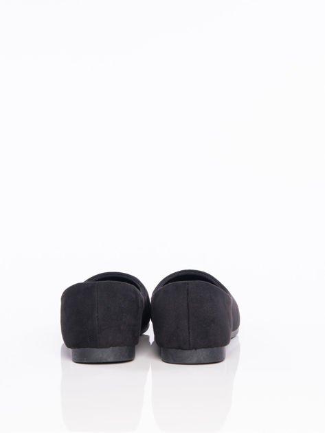 Czarne półażurowe baleriny z migdałowym przodem                                  zdj.                                  3
