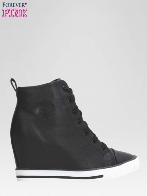 Czarne sneakersy damskie z siateczką                                  zdj.                                  1