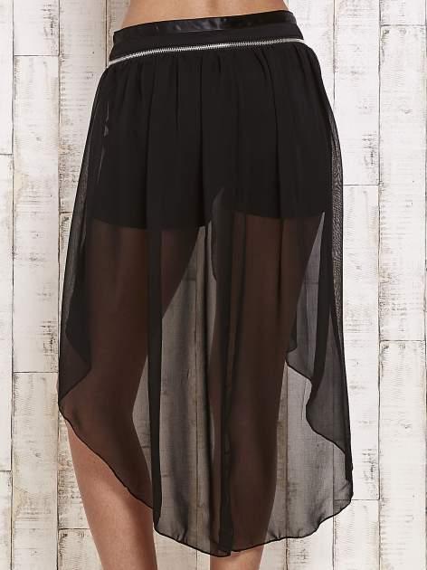 Czarne spódnicospodnie z tiulowym trenem                                  zdj.                                  5