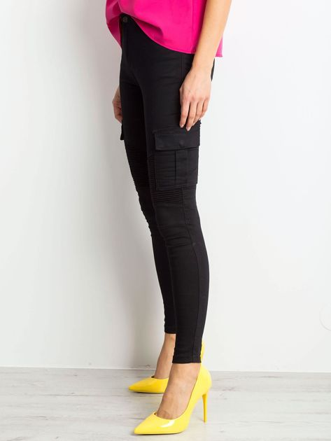 Czarne spodnie Hello                              zdj.                              3