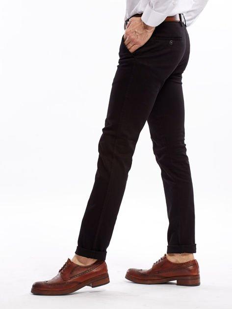 Czarne spodnie męskie slim fit                              zdj.                              8