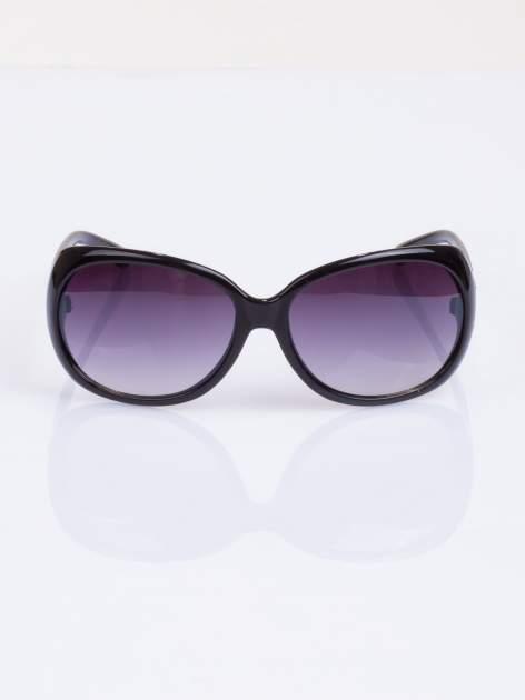 Czarne stylowe okulary  MUCHYz dymionymi soczewkami                                   zdj.                                  2