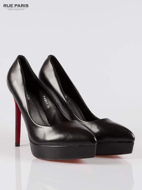 Czarne szpilki high heels na platformie Michaela                                  zdj.                                  2