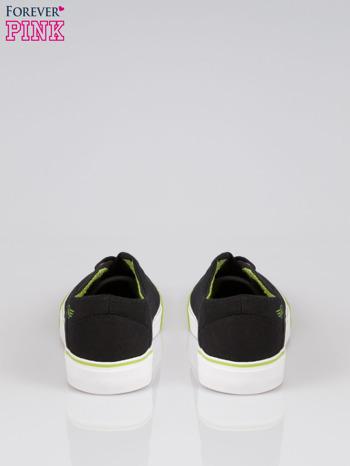 Czarne tenisówki z zielonym wykończeniem Ricco                                  zdj.                                  3