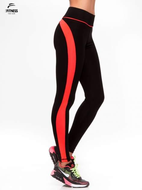 Czarne termoaktywne legginsy do biegania z fluoróżowymi lampasami ♦ Performance RUN                                  zdj.                                  3