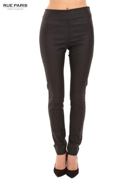 Czarne woskowane legginsy                                  zdj.                                  1
