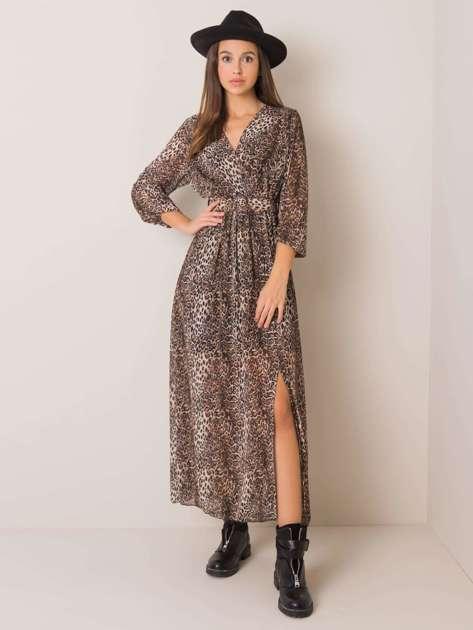 Czarno-beżowa sukienka Sarah