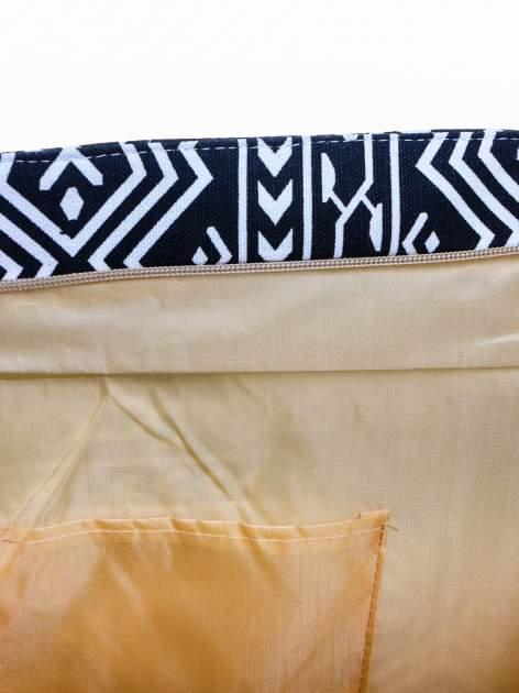 Czarno-biała torba plażowa w azteckie wzory                                  zdj.                                  9