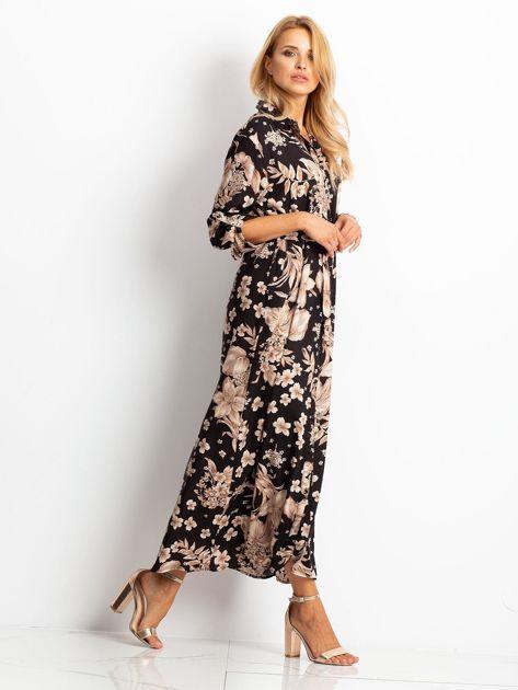 Czarno-brązowa sukienka Temple                              zdj.                              3