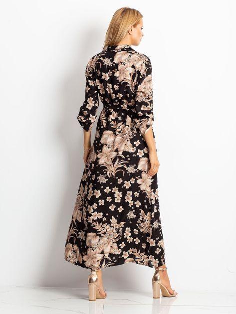 Czarno-brązowa sukienka Temple                              zdj.                              2