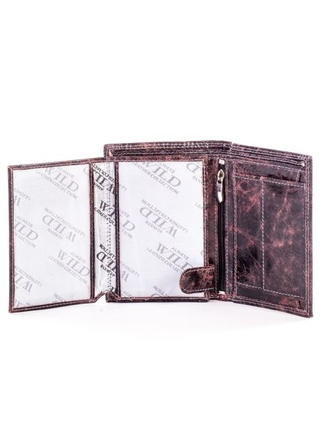 Czarno-brązowy cieniowany portfel dla mężczyzny ze skóry                              zdj.                              5