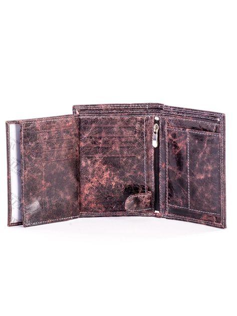 Czarno-brązowy cieniowany portfel dla mężczyzny ze skóry                              zdj.                              6