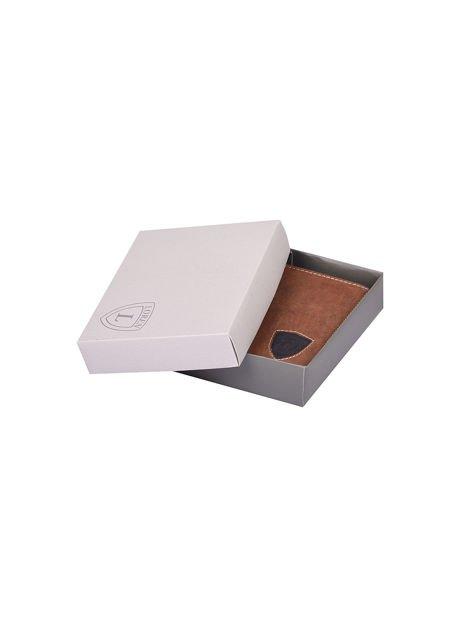 Czarno-brązowy portfel dla mężczyzny ze skóry                              zdj.                              7