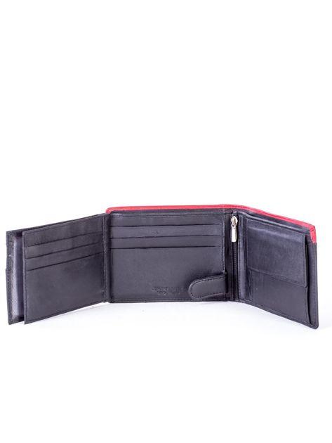 Czarno-czerwony skórzany portfel męski                              zdj.                              6