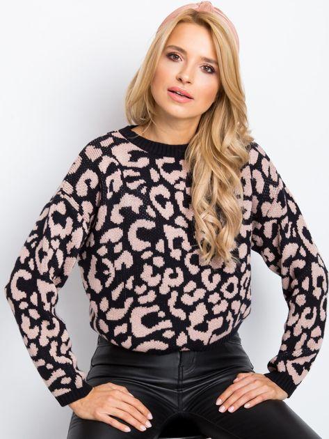 Czarno-różowy sweter Candy                              zdj.                              1