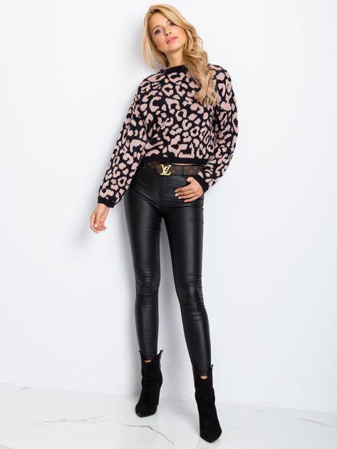 Czarno-różowy sweter Candy                              zdj.                              4