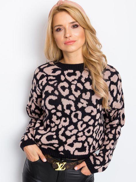 Czarno-różowy sweter Candy                              zdj.                              5