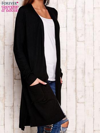 Czarny długi sweter oversize                                  zdj.                                  3
