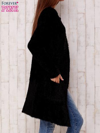 Czarny długi włochaty sweter                                   zdj.                                  3