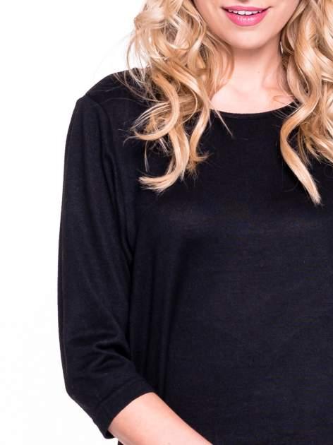 Czarny klasyczny sweterek z luźnym rękawkiem 3/4                                  zdj.                                  5