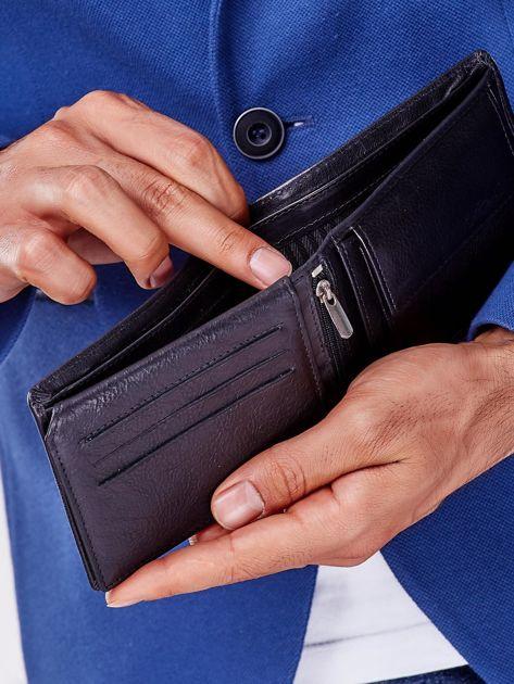 Czarny miękki portfel męski skórzany                              zdj.                              2