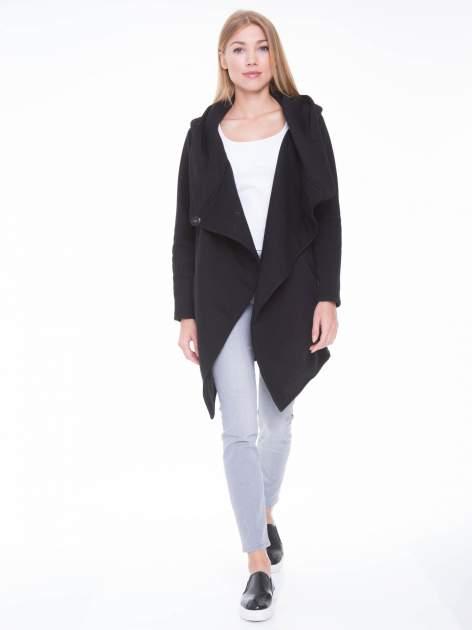Czarny płaszcz dresowy                                  zdj.                                  6