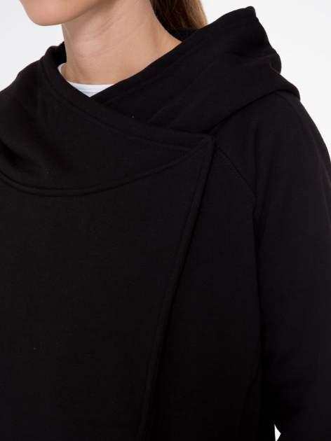 Czarny płaszcz dresowy z kapturem                                  zdj.                                  10