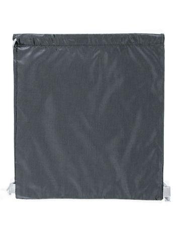 Czarny plecak typu worek gładki