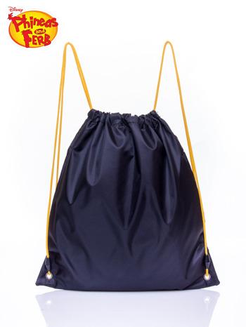 Czarny plecak worek DISNEY Fineasz i Ferb