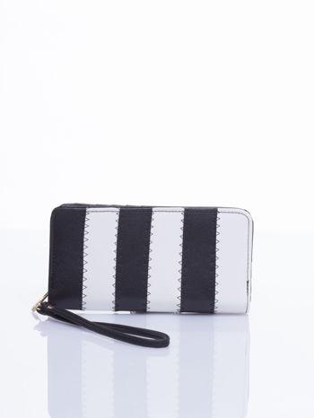 Czarny portfel w paski