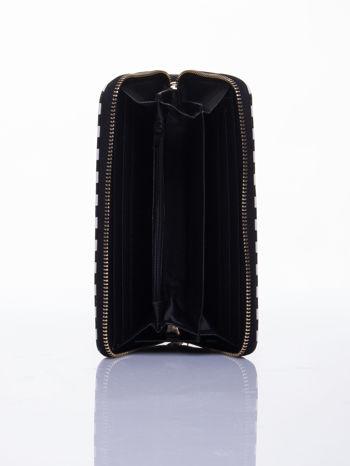 Czarny portfel w paski z uchwytem                                  zdj.                                  3