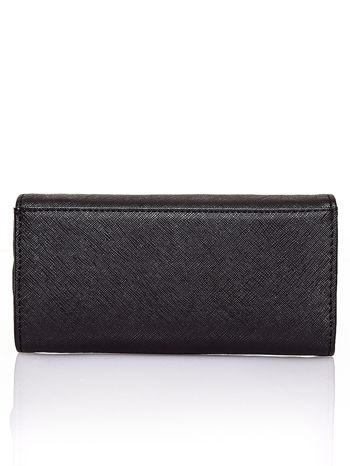 Czarny portfel z białym wykończeniem                                  zdj.                                  2