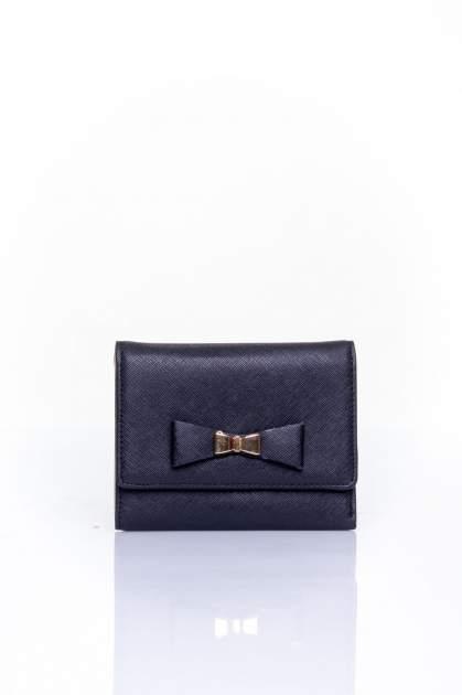 Czarny portfel z kokardką                                  zdj.                                  1
