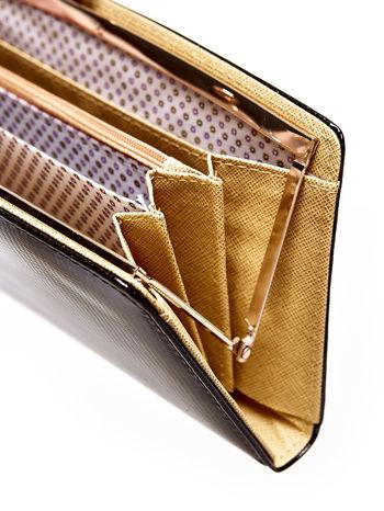 Czarny portfel z motywem skóry węża z biglem                                  zdj.                                  4