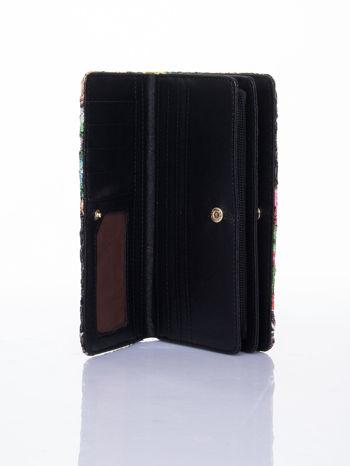 Czarny portfel z nadrukiem paisley                                  zdj.                                  4