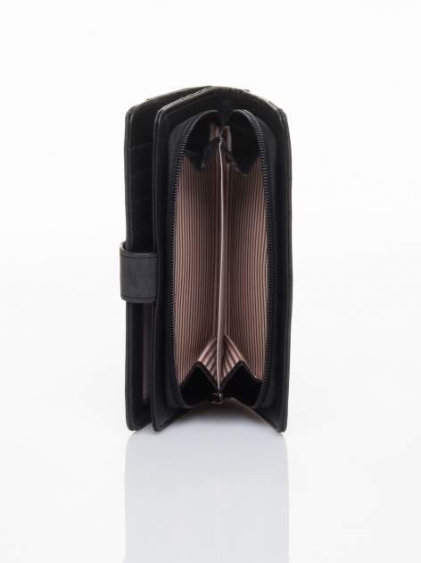 Czarny portfel z plecionką                                  zdj.                                  5