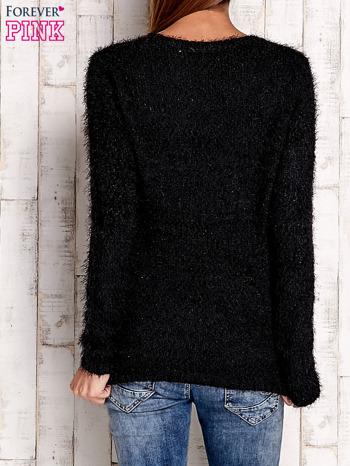 Czarny sweter long hair z kokardkami                                  zdj.                                  4