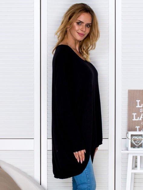 Czarny sweter oversize                                   zdj.                                  3