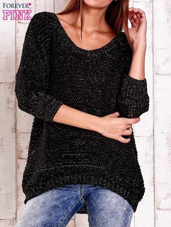 Czarny sweter z metaliczną nicią FUNK N SOUL                                  zdj.                                  1