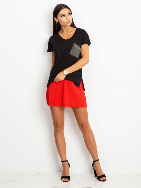 Czarny t-shirt Shelly                              zdj.                              4