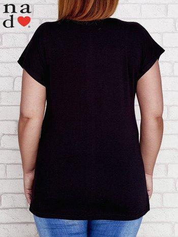 Czarny t-shirt basic PLUS SIZE